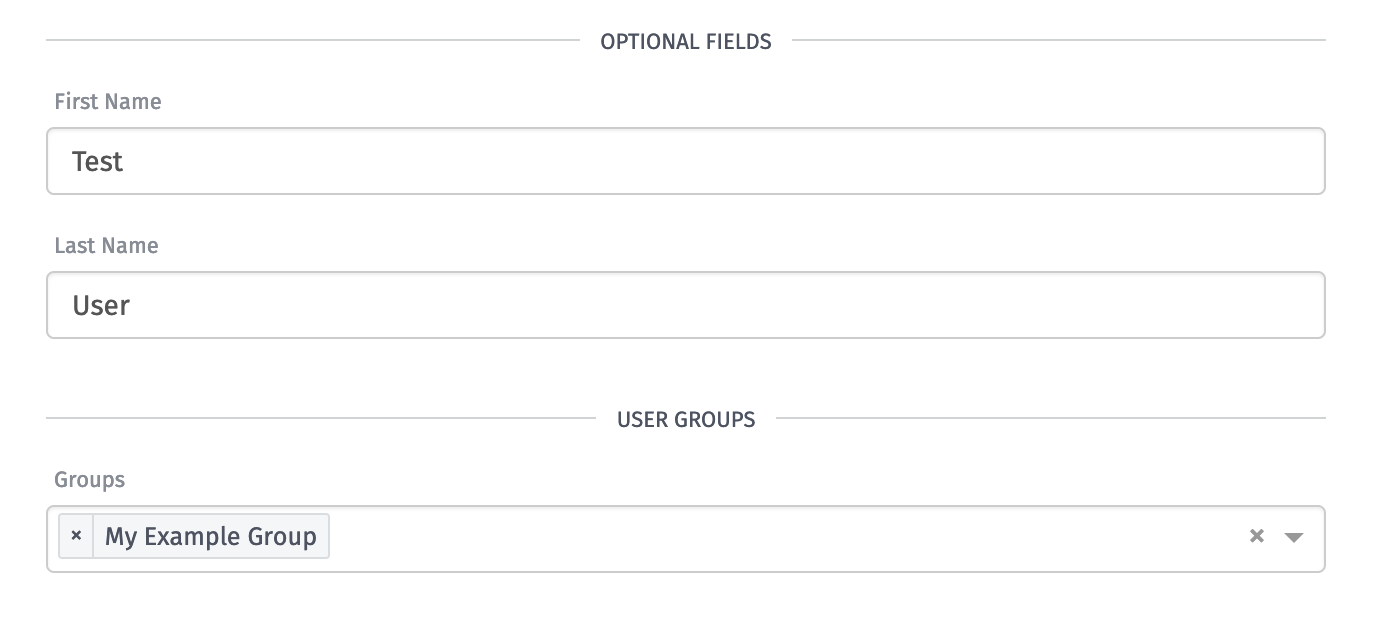 Optional User Fields