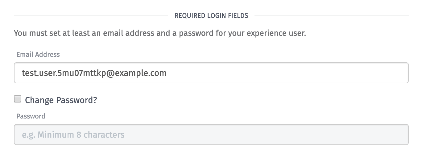 Required User Fields