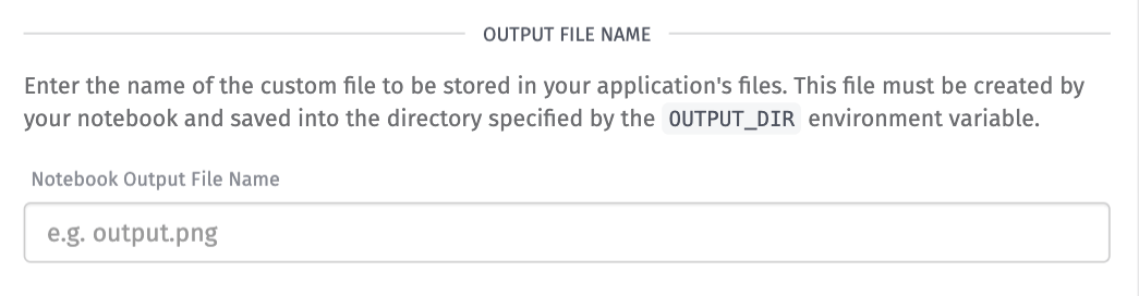 Notebook Outputs Custom File