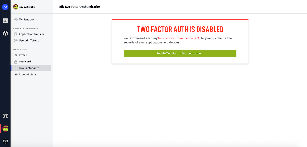 Enable Two-Factor Auth